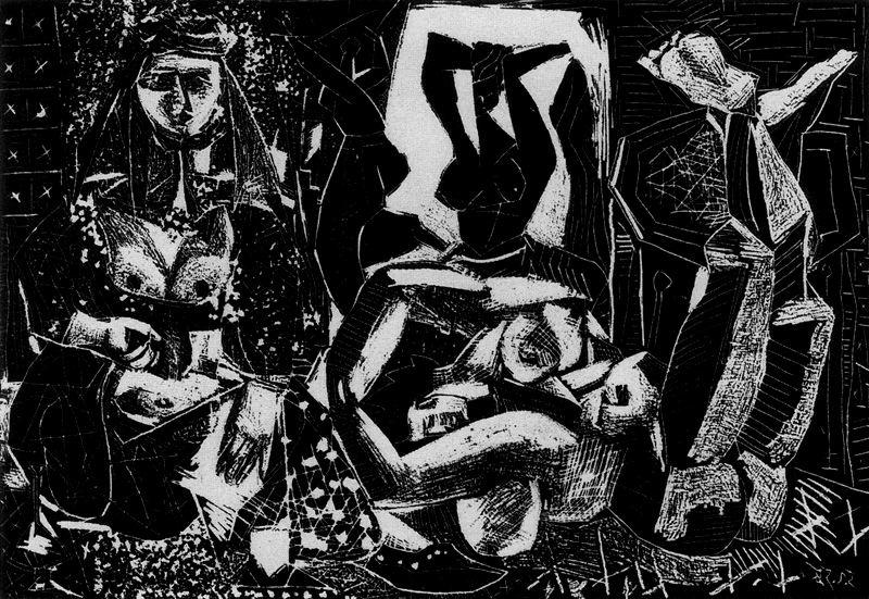 Пабло Пикассо. Алжирские женщины. Литография 2