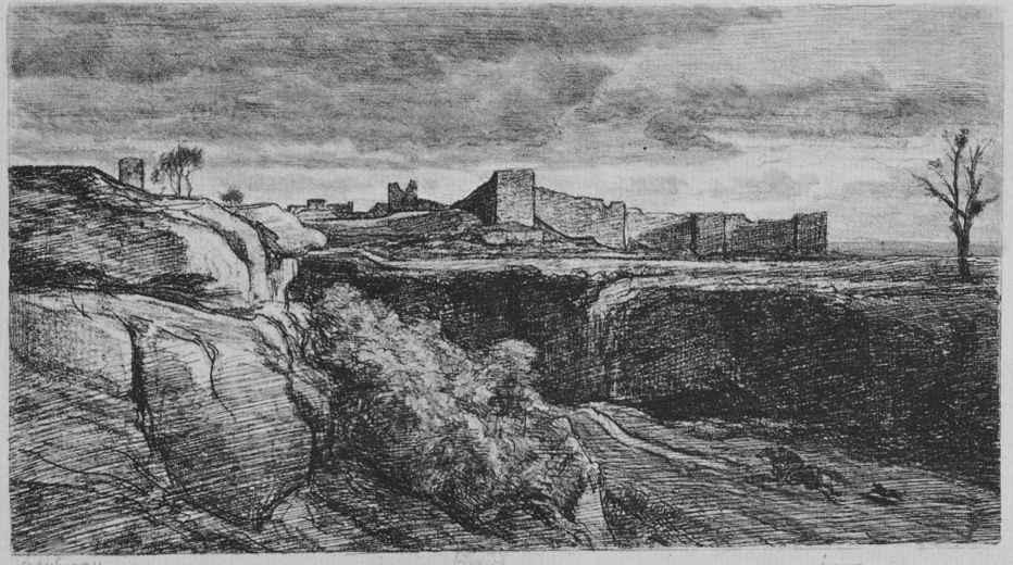 Шарль-Франсуа Добиньи. Руины замка Кремьо