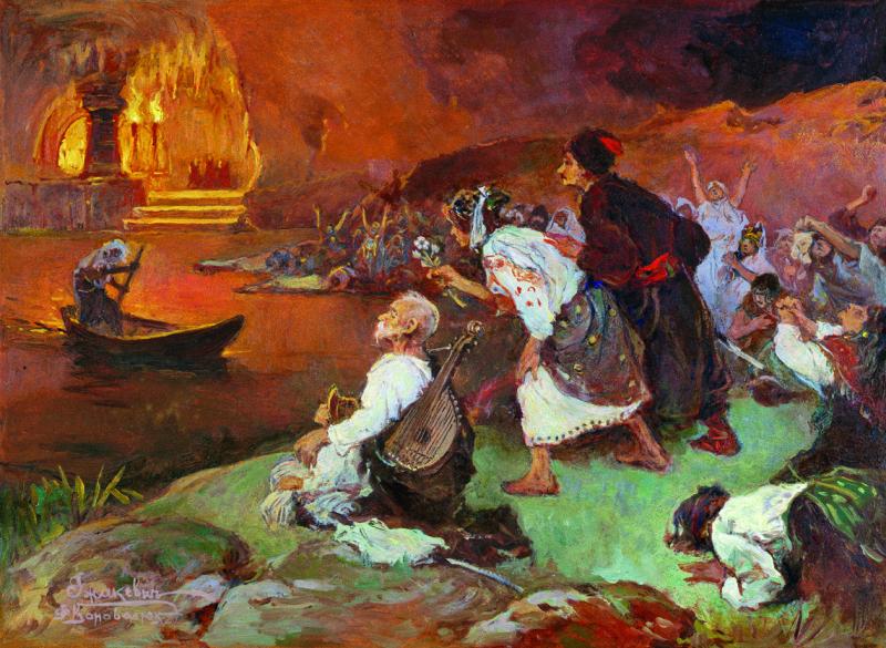 Иван Исидорович Ижакевич. Эней и Сивилла в аду