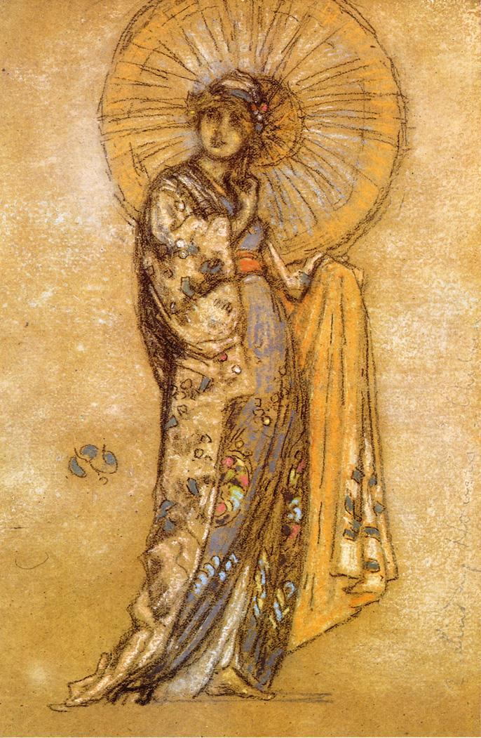 James Abbot McNeill Whistler. Japanese dress