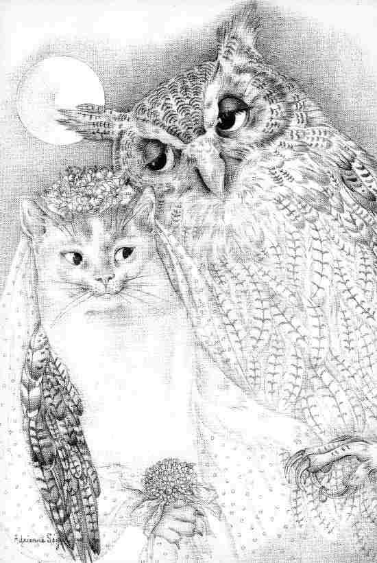 Адриенн Сегур. Сова и кошечка
