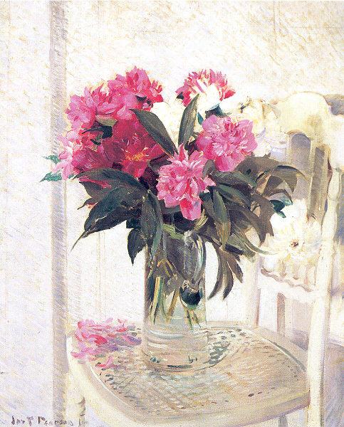 Джозеф Пирсон. Цветы в стеклянной вазе