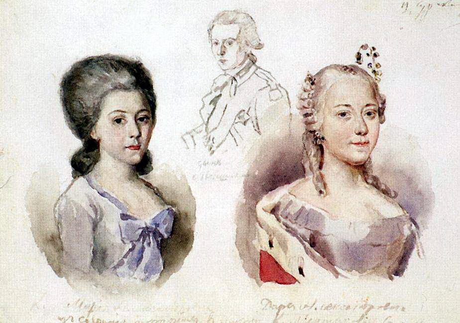 Василий Иванович Суриков. Портреты Меншиковых
