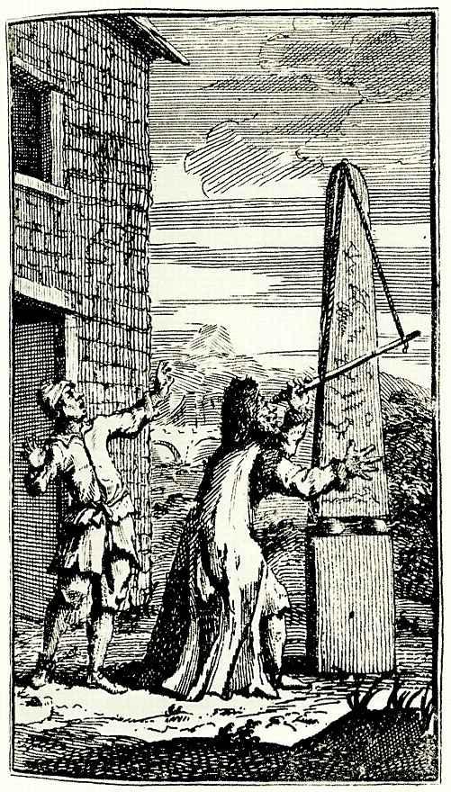 Уильям Хогарт. Сидрофель наблюдает в телескоп бумажного дракона