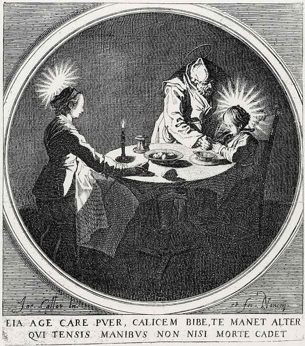 Жак Калло. Святое семейство за трапезой