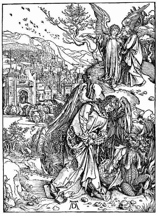 Альбрехт Дюрер. Ангел с ключом от преисподней