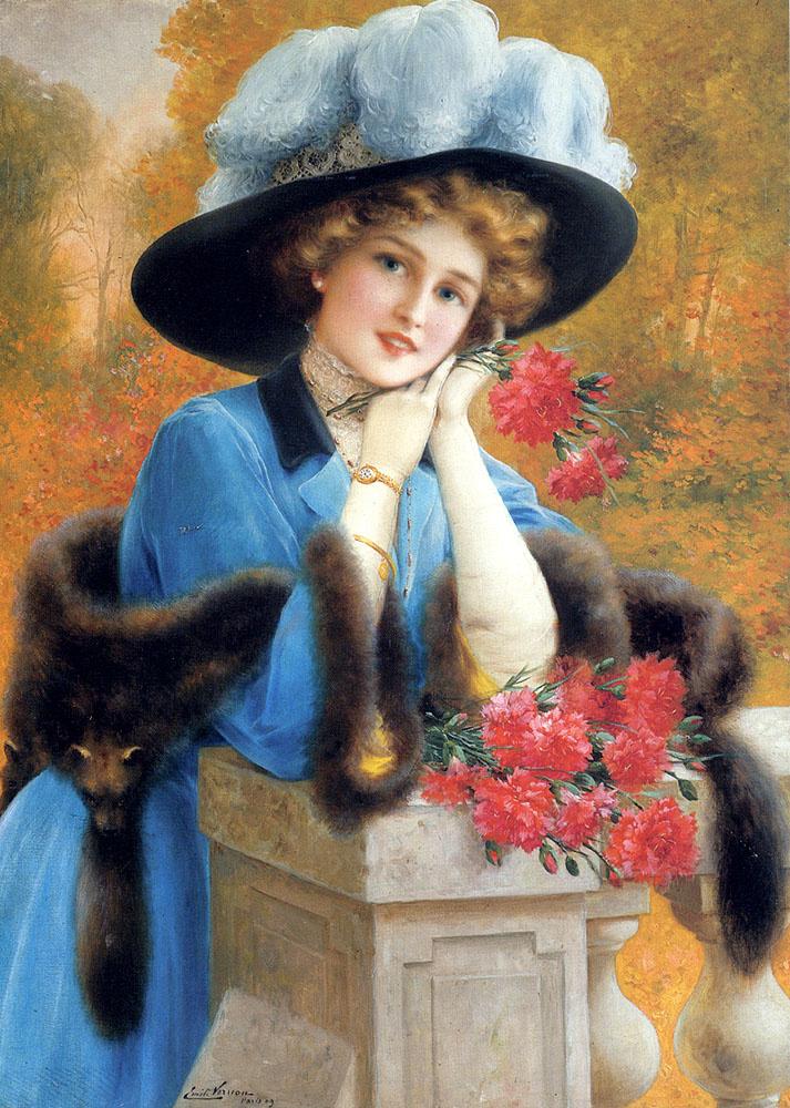 Эмиль Вернон. Женщина в синем платье
