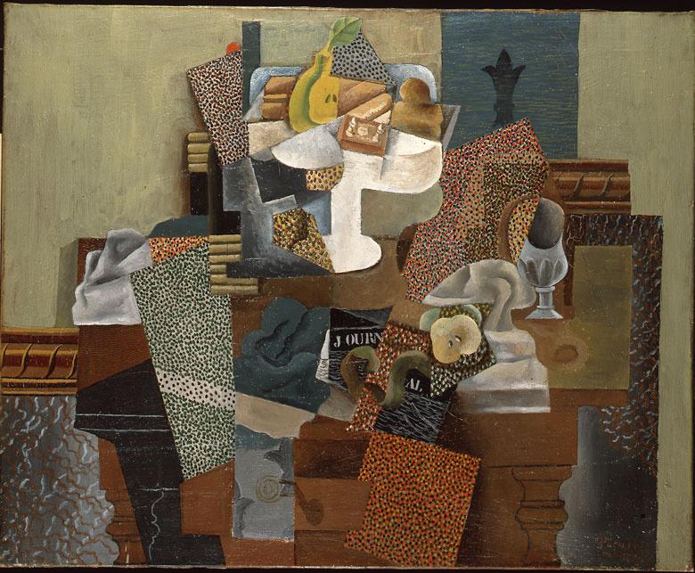 Пабло Пикассо. Натюрморт с компотом и бокалом