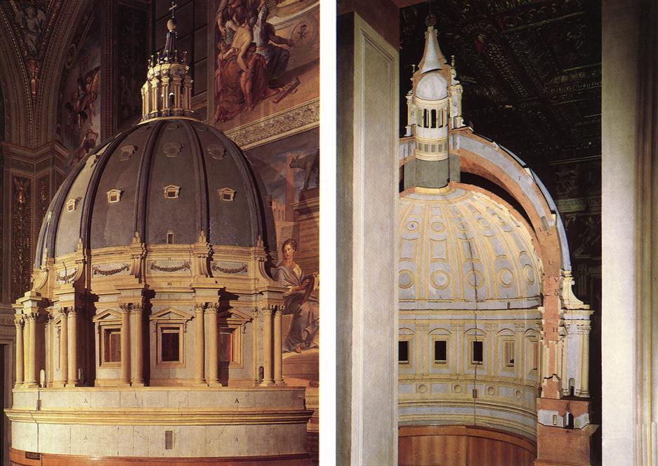 Микеланджело Буонарроти. Собор Св. Петра. Модель купола.