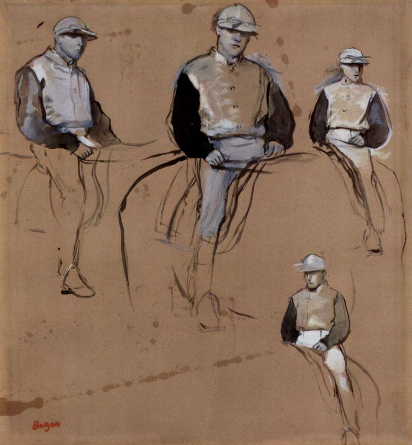Эдгар Дега. Лист с четырьмя этюдами жокея