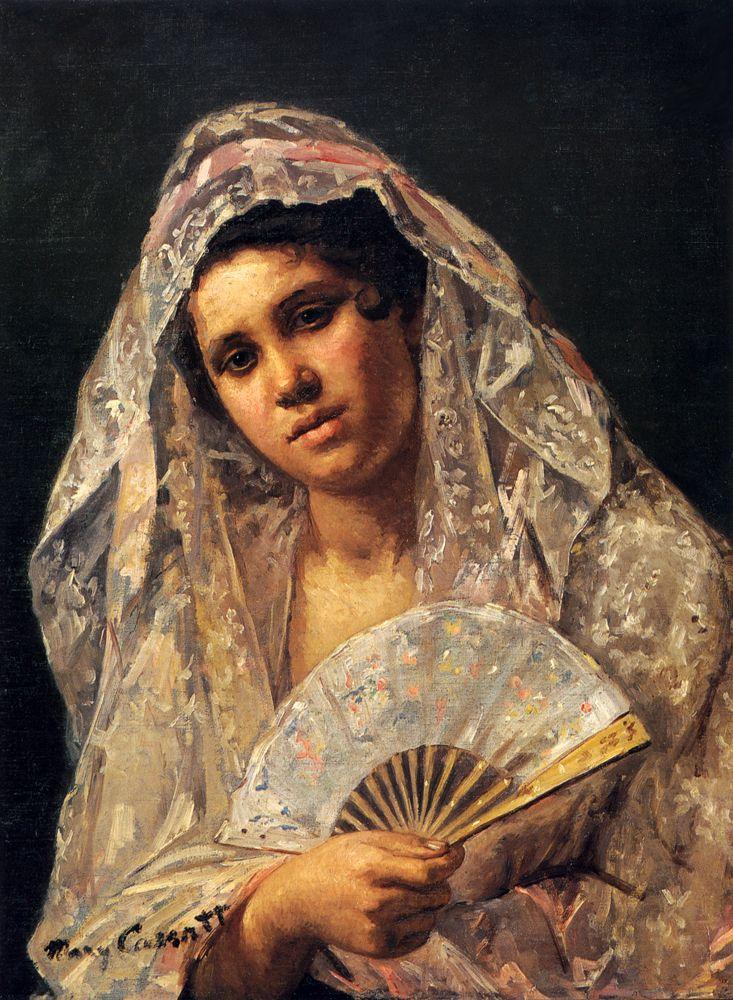 Мэри Кассат. Испанская танцовщица в кружевах