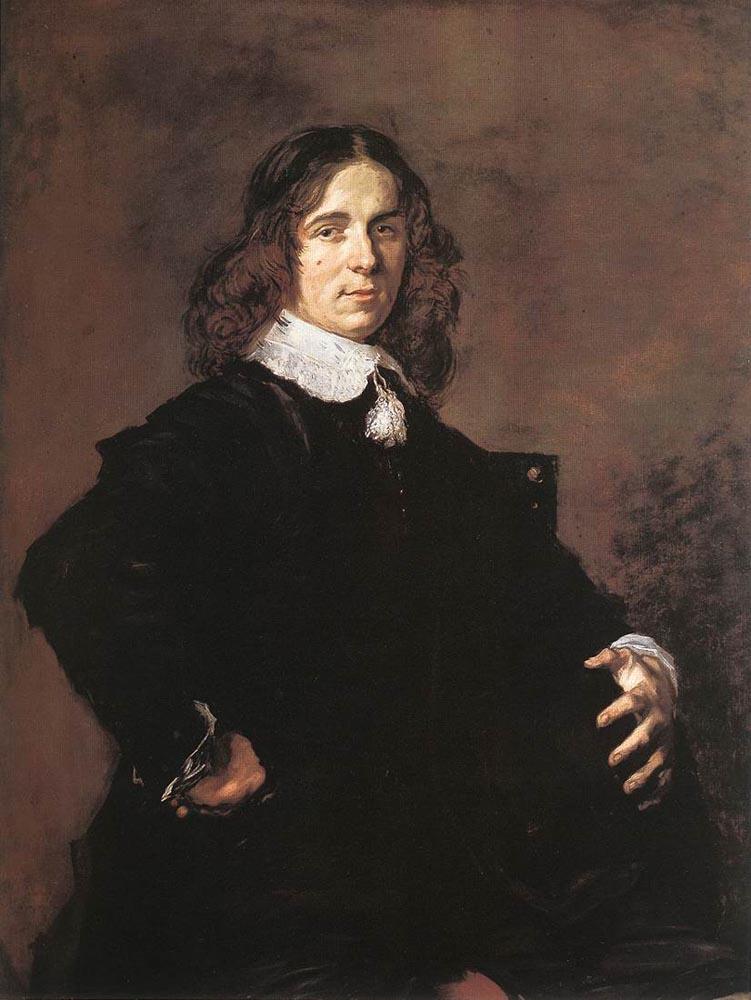 Франс Халс. Портрет сидящего человека, держащего шляпу