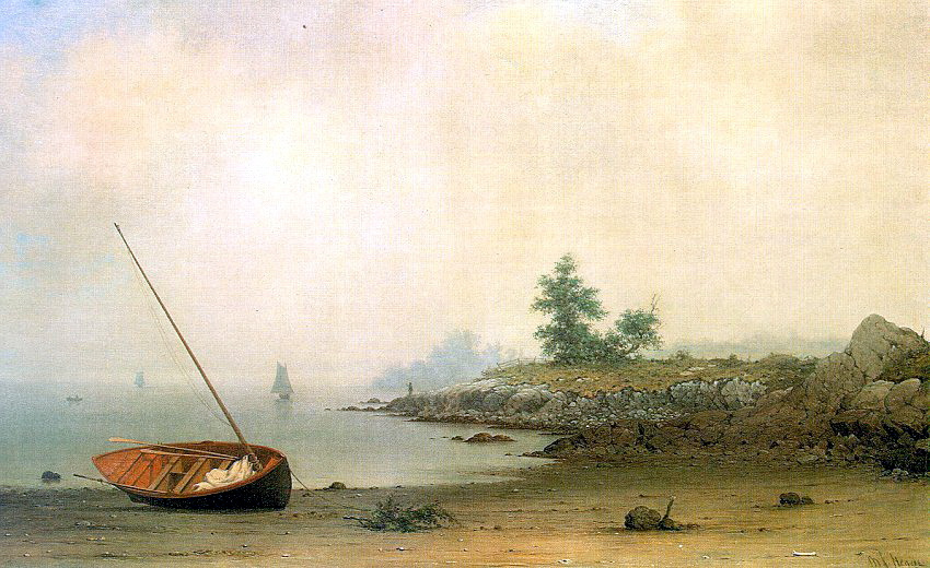 Martin Johnson Head. Boat on the shore
