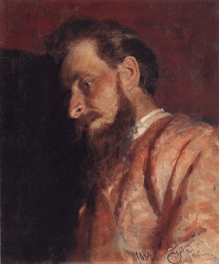 Ilya Efimovich Repin. Portrait Of V. K. MENCK