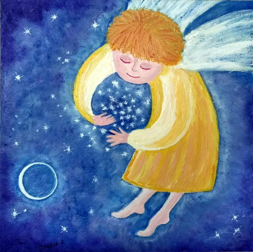 Картинки ангела на сон грядущий