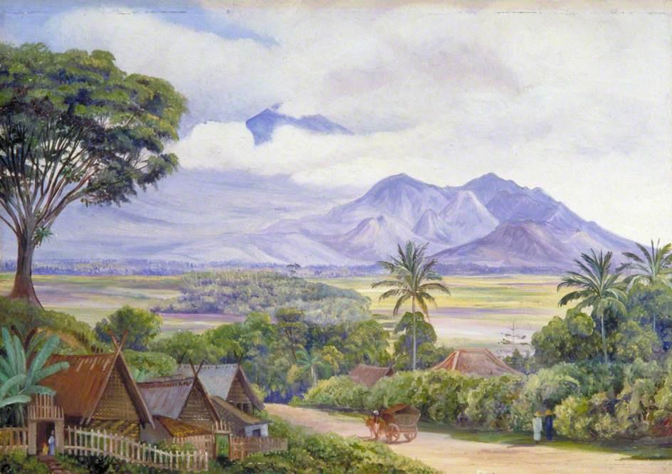 Marianna North. Mountain view from Malang, Java