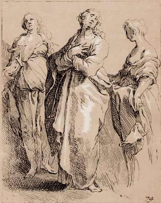 Абрахам Блумарт. Три скорбящие женщины