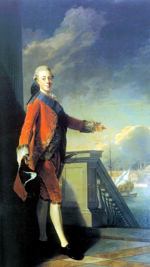 Alexander Roslin. Portrait of Grand Duke Pavel Petrovich