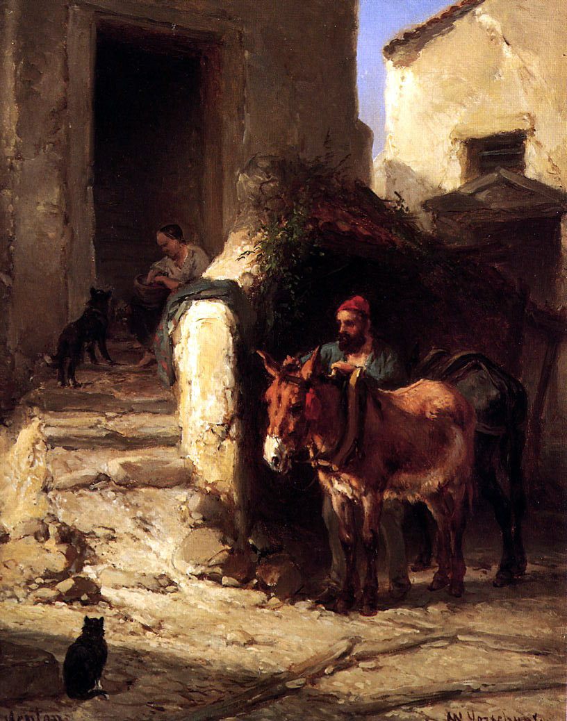 Walter Vershur. The man with the donkey