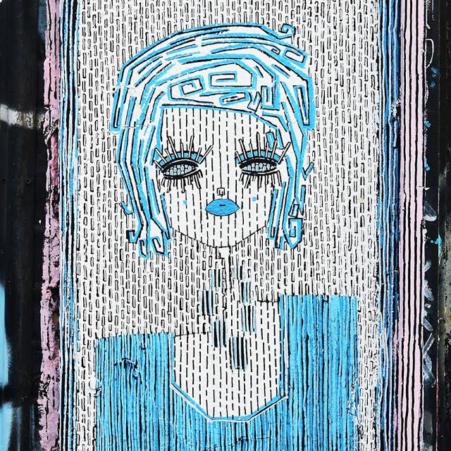 ALO (Aristide Loria). Portrait of a woman in blue