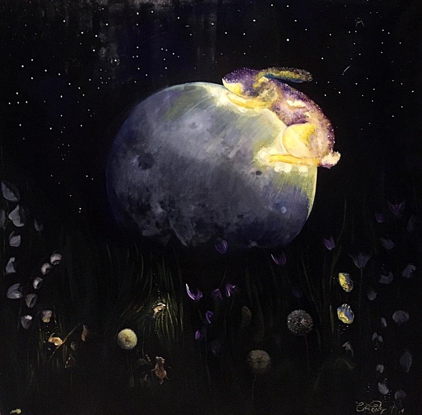 Darina Sergeeva. Bunny on the moon