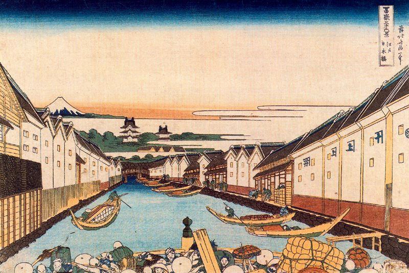 Кацусика Хокусай. Нихонбаси в Эдо