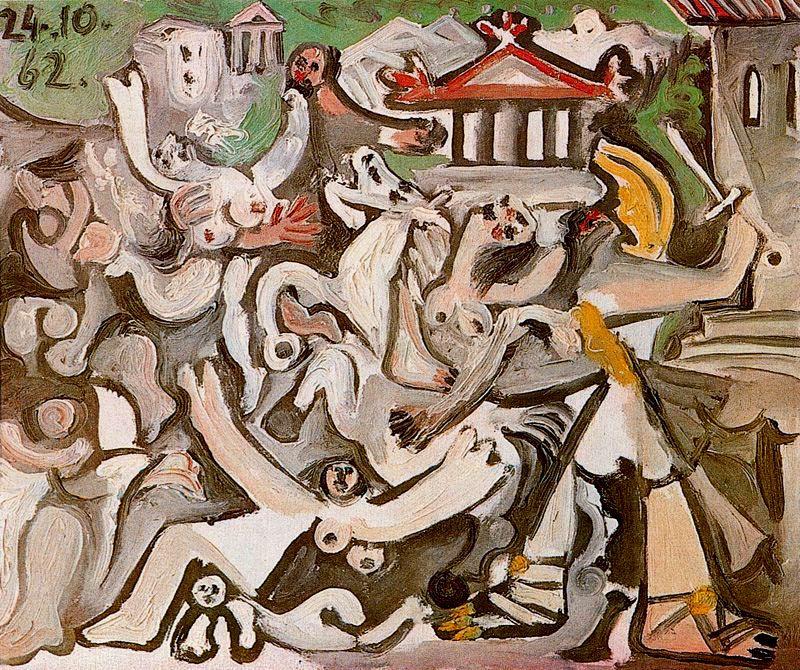Пабло Пикассо. Похищение сабинянок