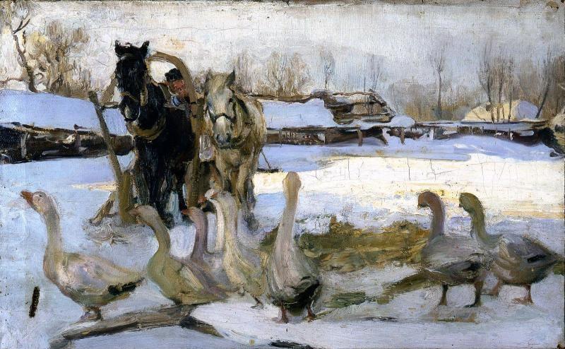 Семен Гавриилович Никифоров. Зимний пейзаж