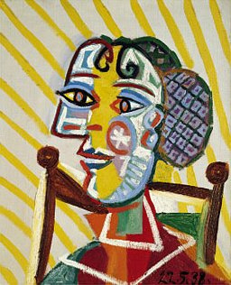 Пабло Пикассо. Женщина в чулках