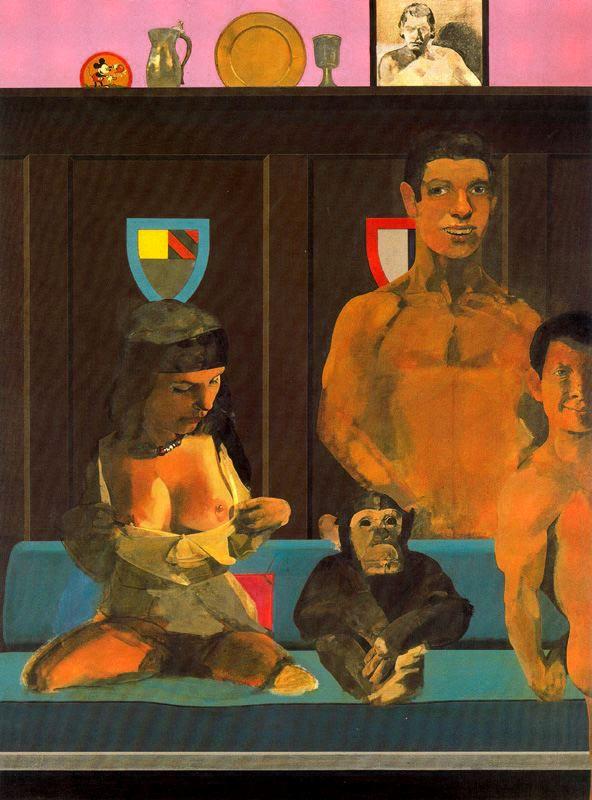 Питер Блейк. Мужчина, женщина и обезьяна