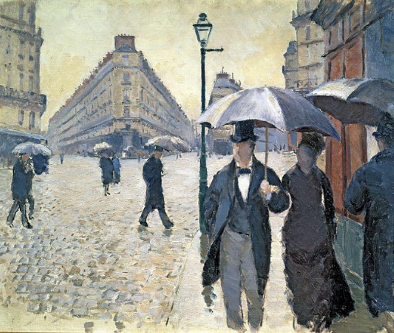 Gustave Caillebotte. Rue de Paris, Temps de Pluie, etude (Paris Street, Rainy Day, sketch)