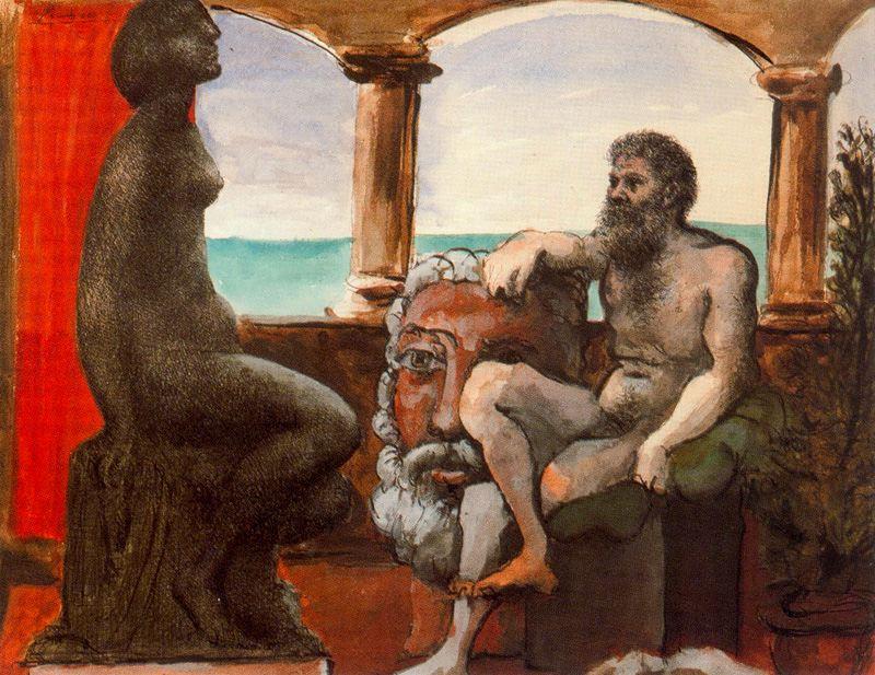 Пабло Пикассо. Скульптор и статуя