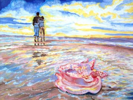 Tais. Evening on the seashore