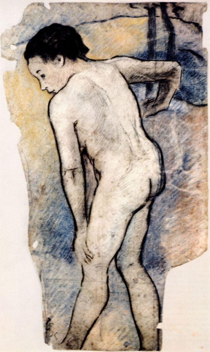 Paul Gauguin. Bathing boy-Breton