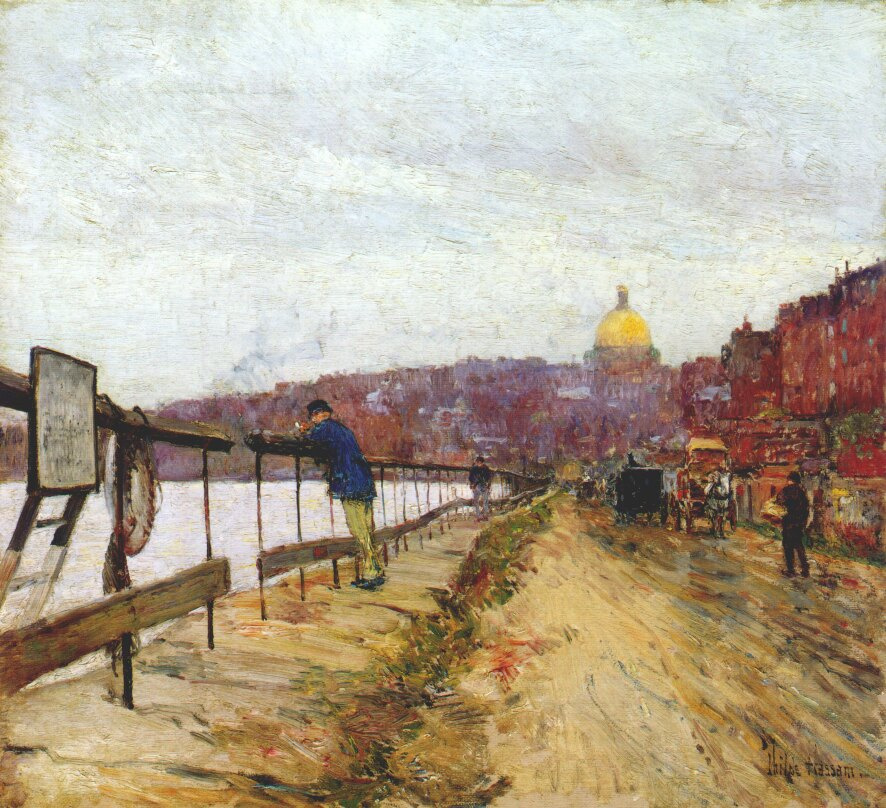 Childe Hassam. The Charles river and beacon hills