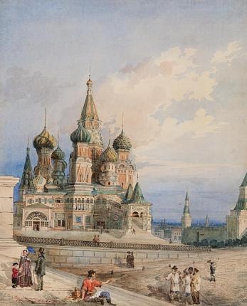 Вид на Покровский собор от Лобного места