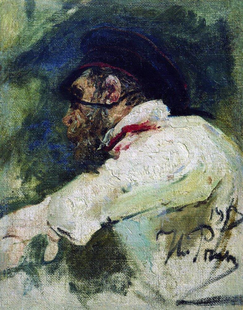 Илья Ефимович Репин. Мужчина в белом кителе. Этюд для фигуры доктора в картине «Дуэль»