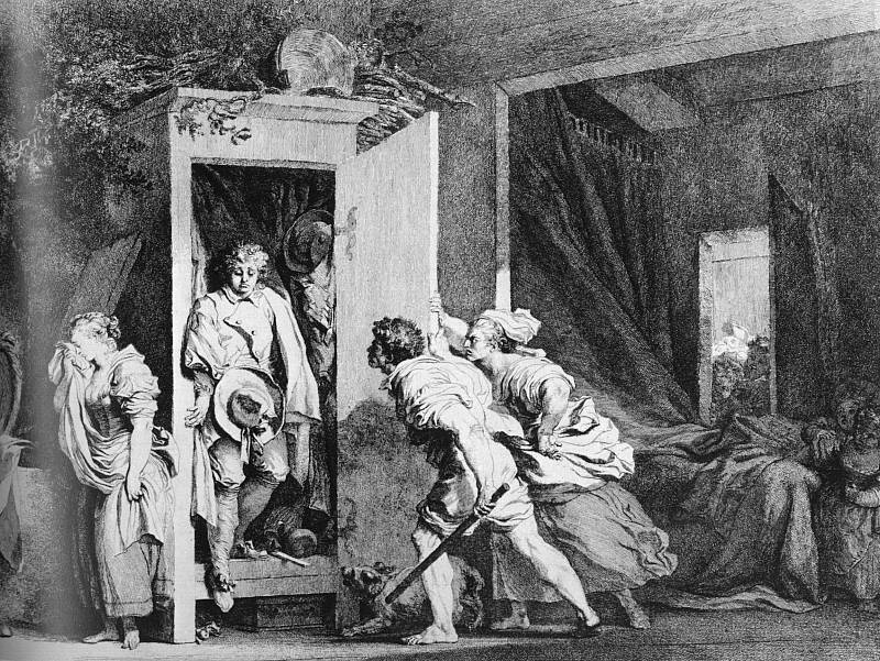 Jean-Honore Fragonard. Wardrobe