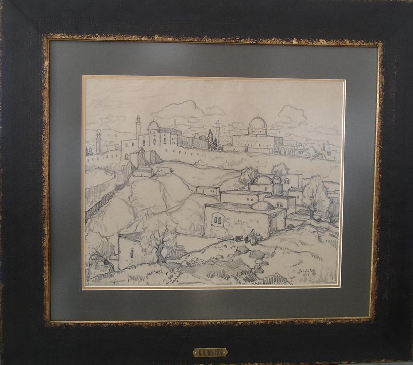 Konstantin Ivanovich Gorbatov. Jerusalem. The temple mount