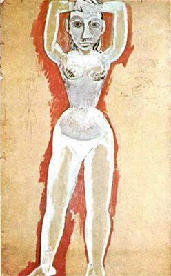 Пабло Пикассо. Обнаженная с поднятыми руками