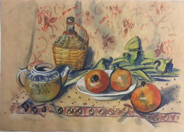 Henri Manguin. Still life with kettle and pomegranate