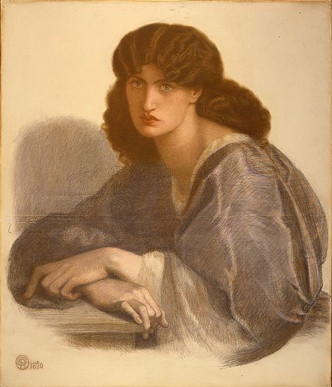 Данте Габриэль Россетти. Женщина у окна. Эскиз
