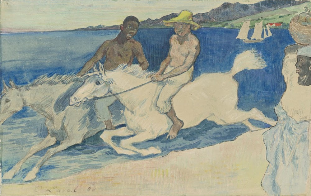 Charles Laval. Two Riders on the Beach, 1888,