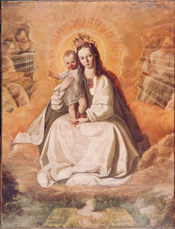 Francisco de Zurbaran. The virgin of mercy (school of Zurbaran)