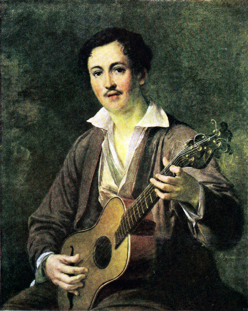 Vasily Andreevich Tropinin. Guitarist