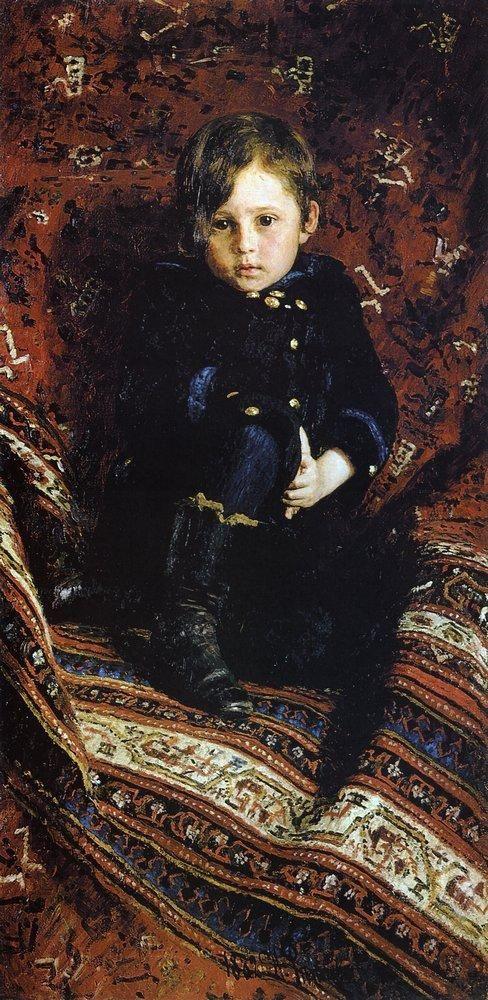 Илья Ефимович Репин. Портрет Ю.И.Репина, сына художника, в детстве