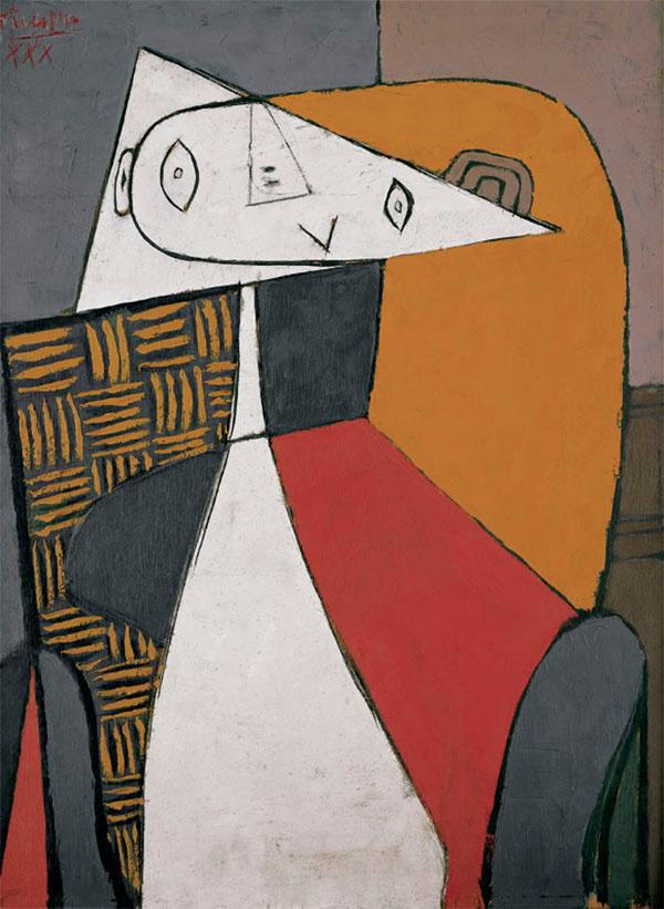 Пабло Пикассо. Фигура (сидящая женщина)
