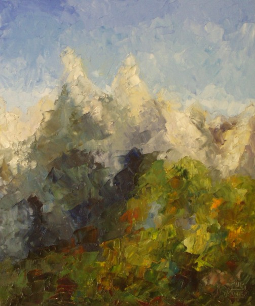 Larissa Lukaneva. The forest and mountains