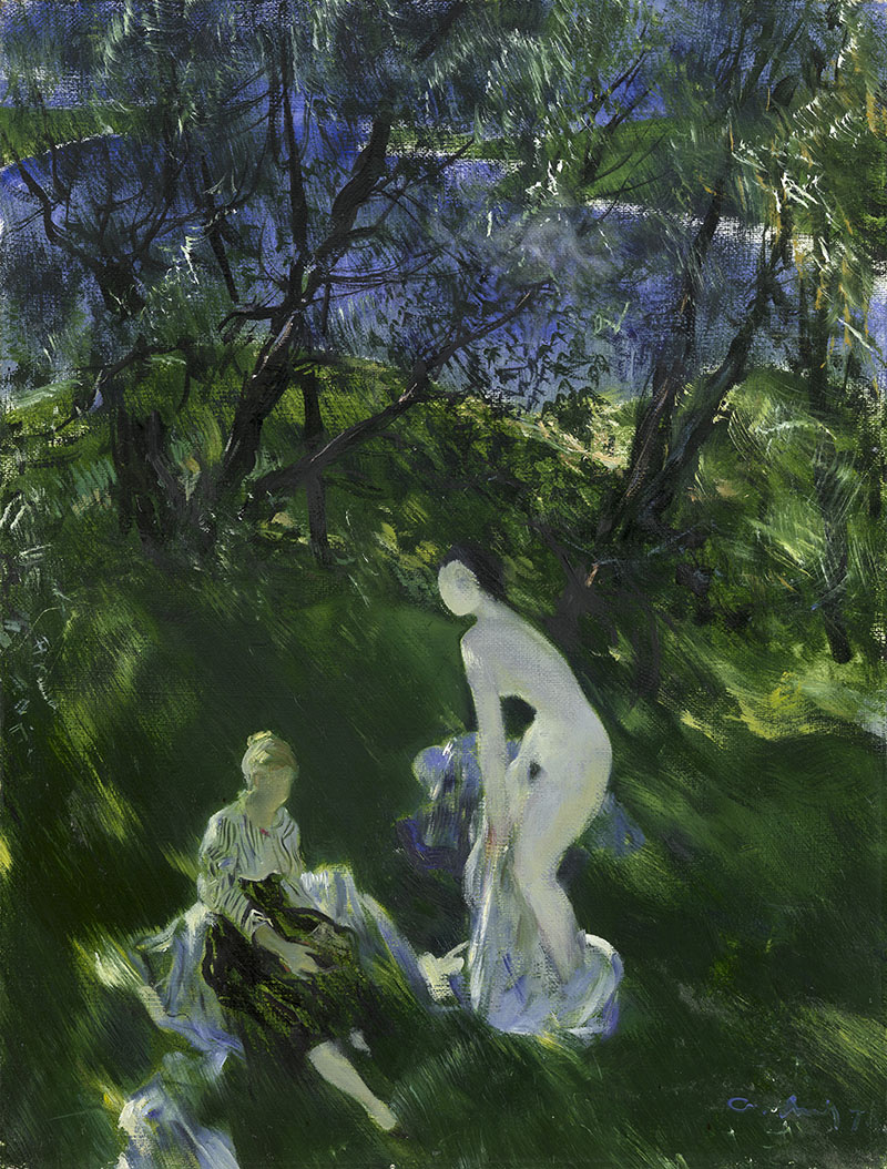 Andrey Andreevich Mylnikov. Bathers by the river