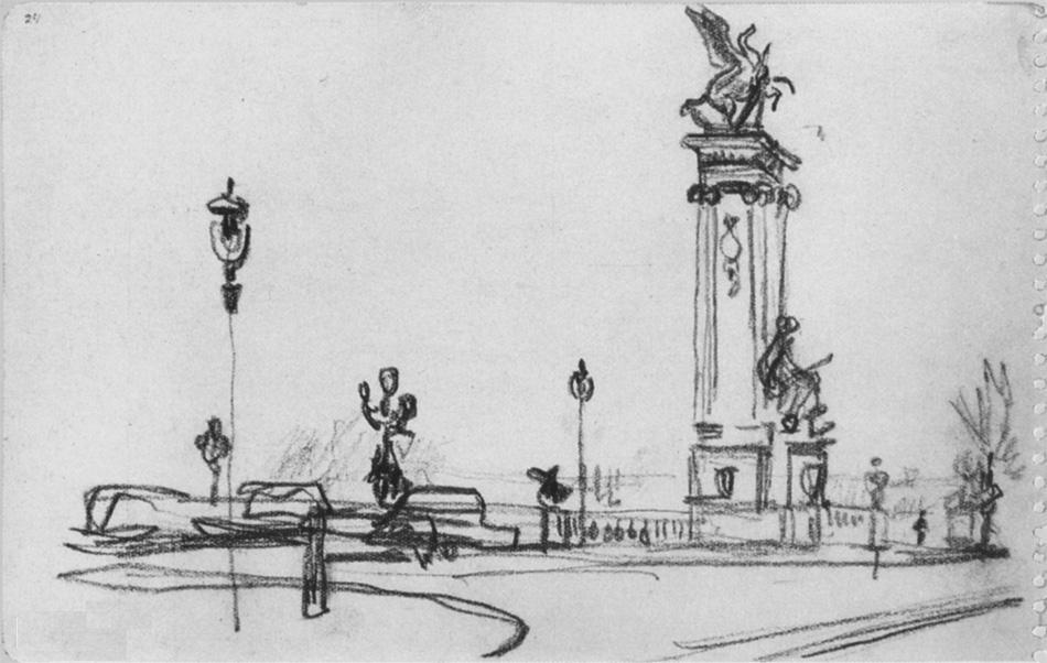 Александр Александрович Дейнека. Париж